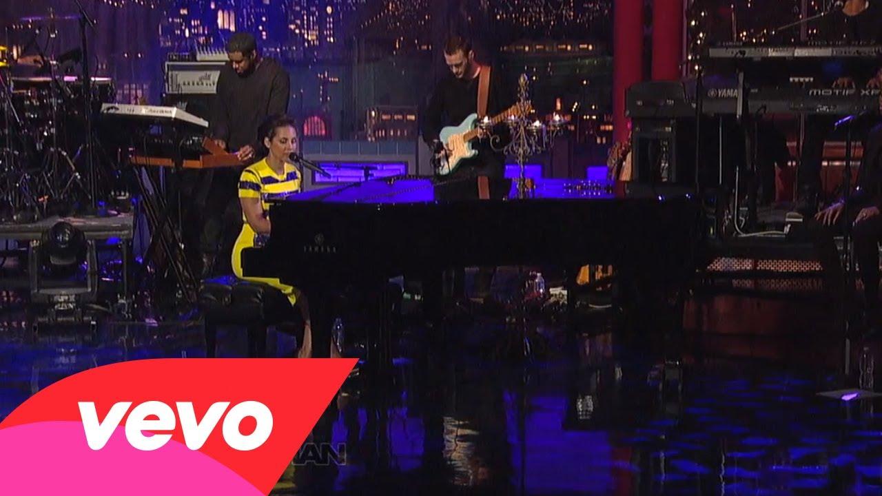 Alicia Keys – Brand New Me (Live on Letterman)
